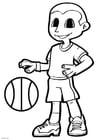 Kleurplaat basket