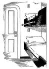 Kleurplaat bed - ligplaats op schip