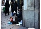Foto bedelaar in Milaan