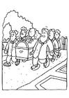 Kleurplaat begrafenis - kist