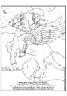 Kleurplaat Bellerephon en Pegasus