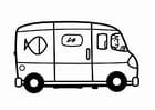 Kleurplaat bestelwagen