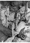 Kleurplaat bestorming van een kasteel