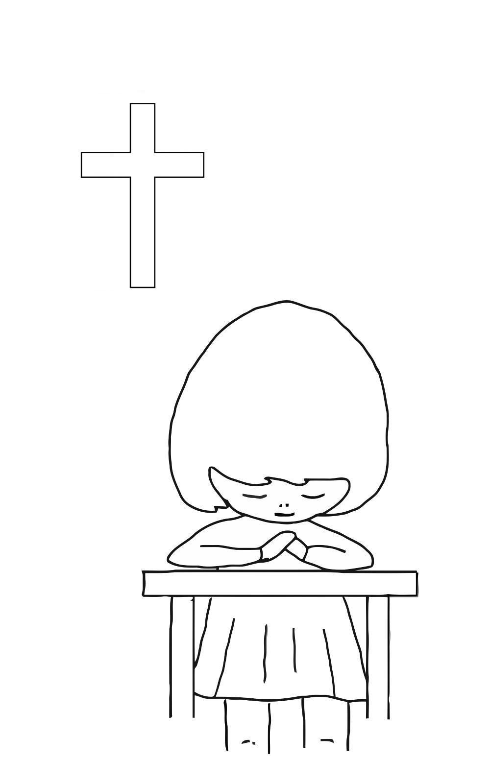 kleurplaat bidden afb 21684