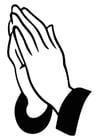 Kleurplaat bidden