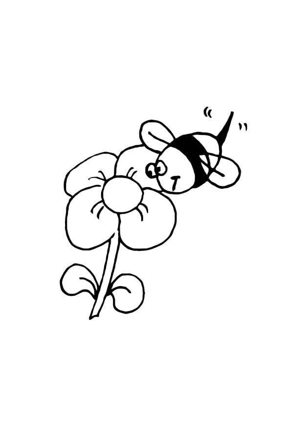 Kleurplaat diddl bloem