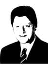 Kleurplaat Bill Clinton