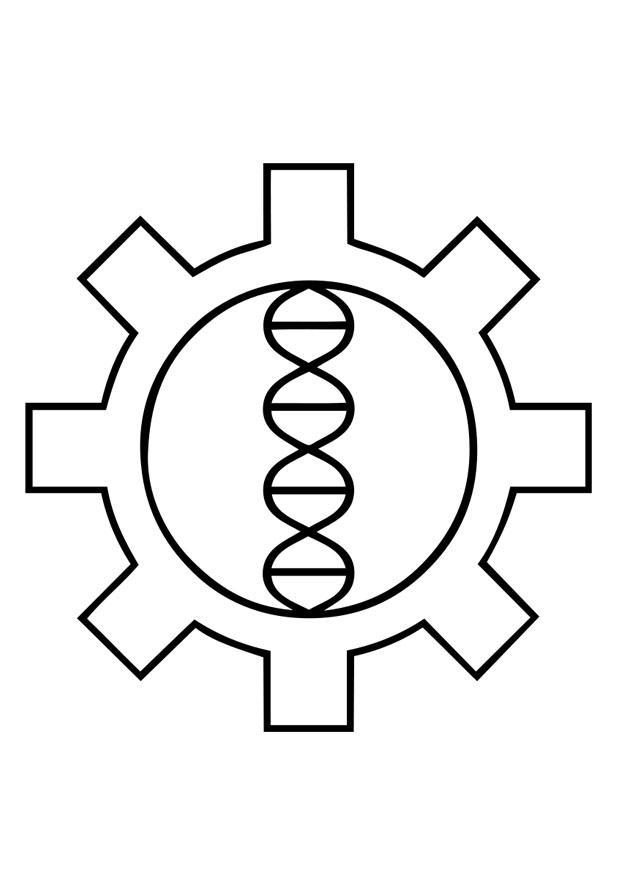 Kleurplaat Biohacking Gentechniek Afb 29189