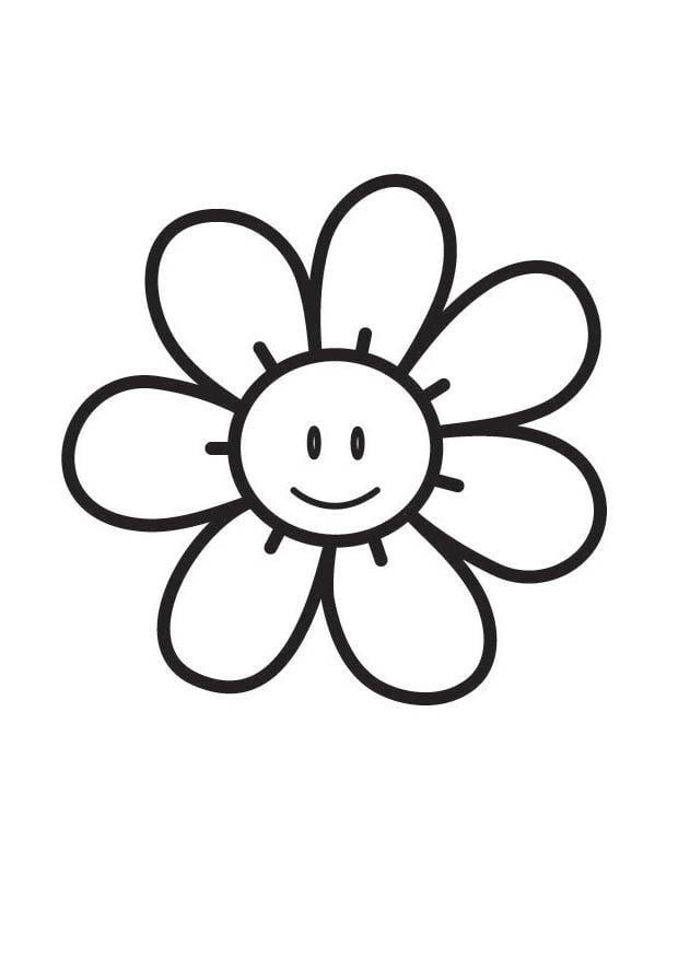 kleurplaat bloem afb 18349