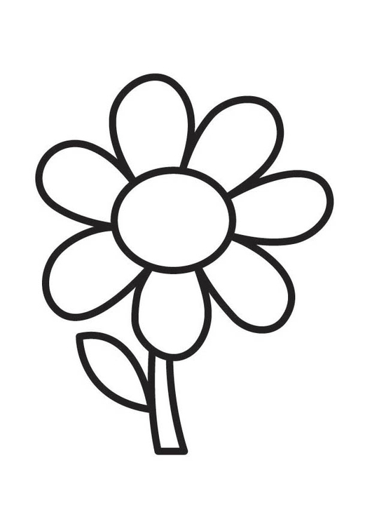 kleurplaat bloem gratis kleurplaten om te printen