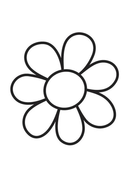 Kleurplaat bloem afb 18357 - Coloriage fleur 8 petales ...
