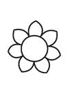 Kleurplaten bloem