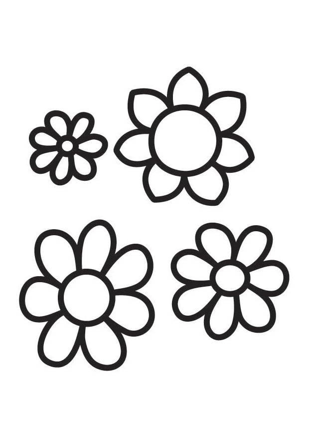 Kleurplaten Bloemen Peuters.Kleurplaat Bloemen Afb 18339