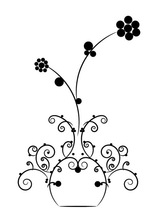 Kleurplaten Vaas Met Bloemen.Kleurplaat Bloemen In Vaas Afb 30128