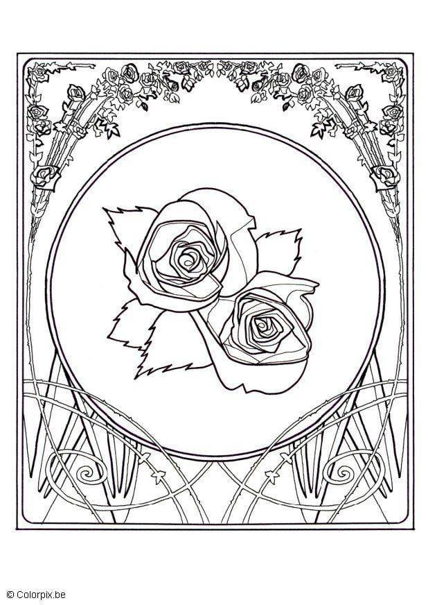 kleurplaten bloemen rozen