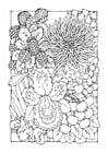Kleurplaat bloemen