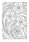Kleurplaat bloemenpatroon