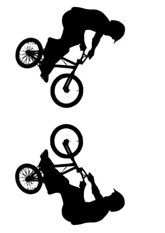 Kleurplaat Mountainbike Kleurplaat Bmx Afb 11494