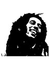 Kleurplaat Bob Marley