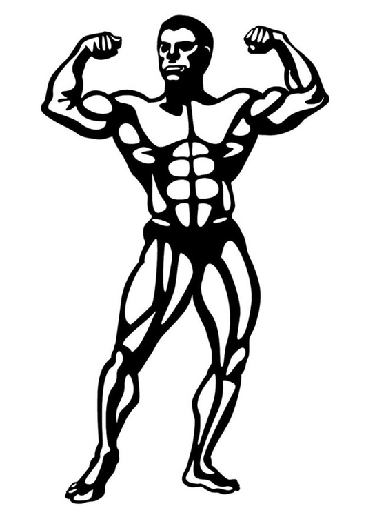 Kleurplaat body building