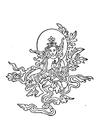 Kleurplaat boeddhistische afbeelding