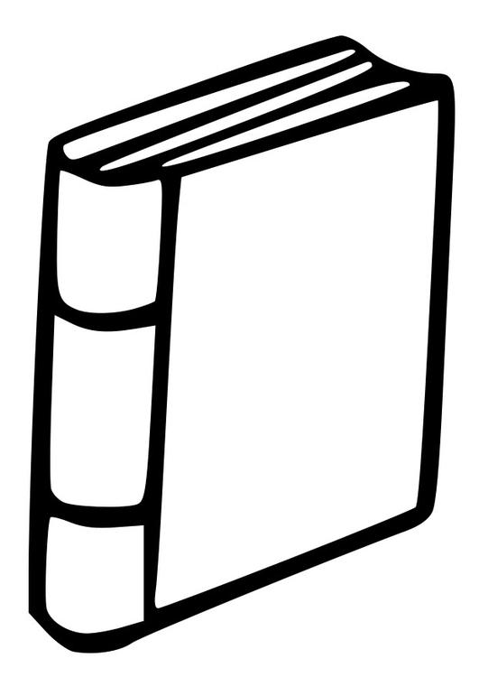 kleurplaat boek afb 27001