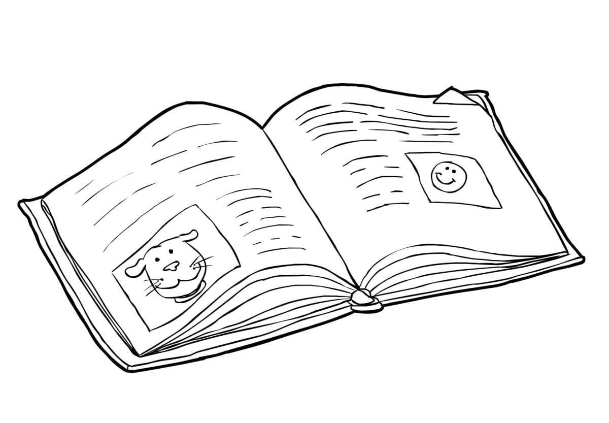 kleurplaat boek lezen 2 gratis kleurplaten om te printen