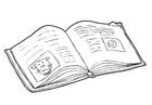 Kleurplaat boek - lezen (2)