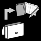 Kleurplaat boekentas leegmaken