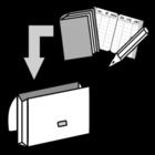 Kleurplaat boekentas maken