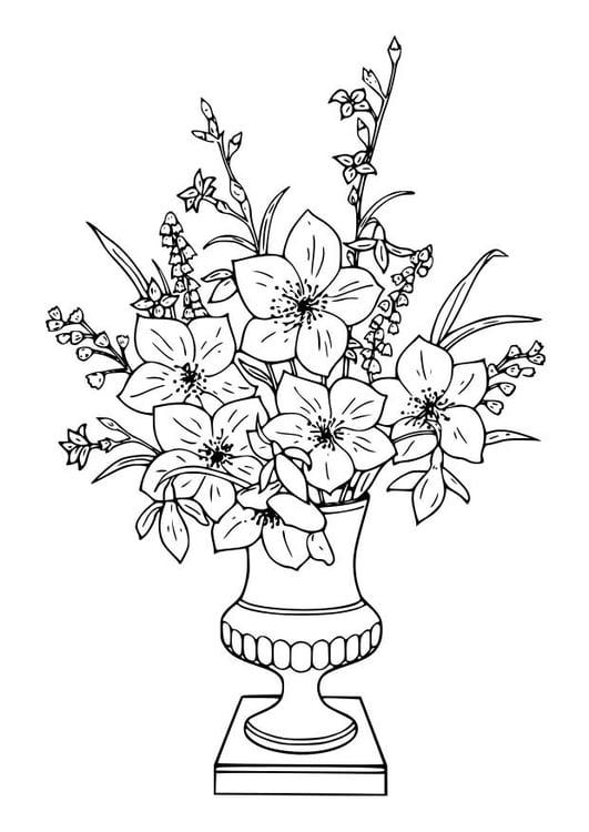 Kleurplaat boeket lelies afb 18643 for Design del mazzo online