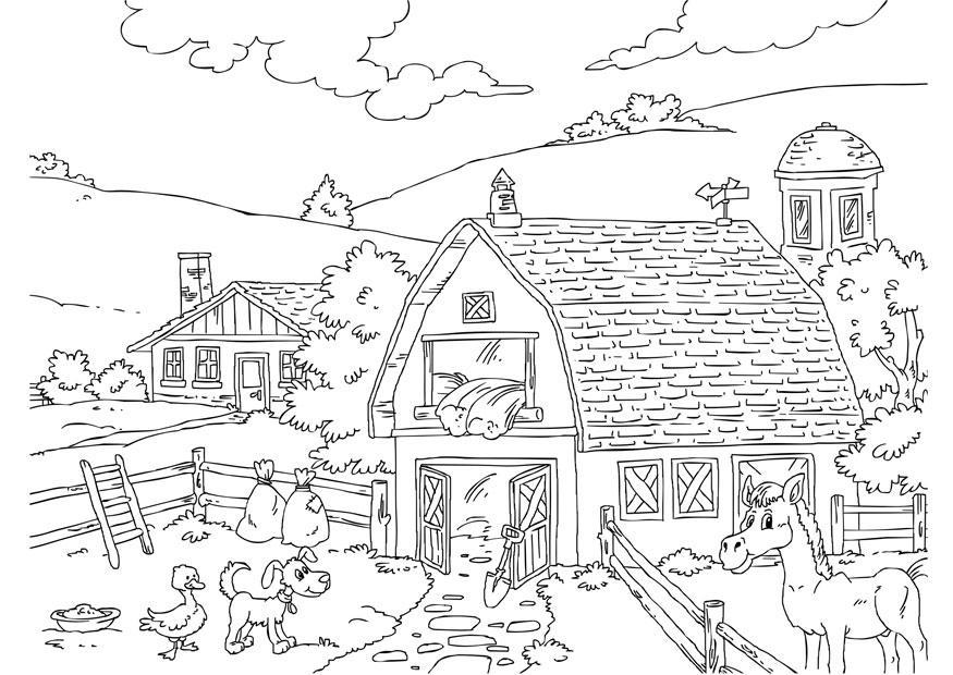 kleurplaat boerderij gratis kleurplaten om te printen