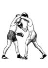 Kleurplaat boksen - uppercut
