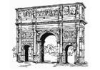 Kleurplaat Boog van Constantijn, Rome