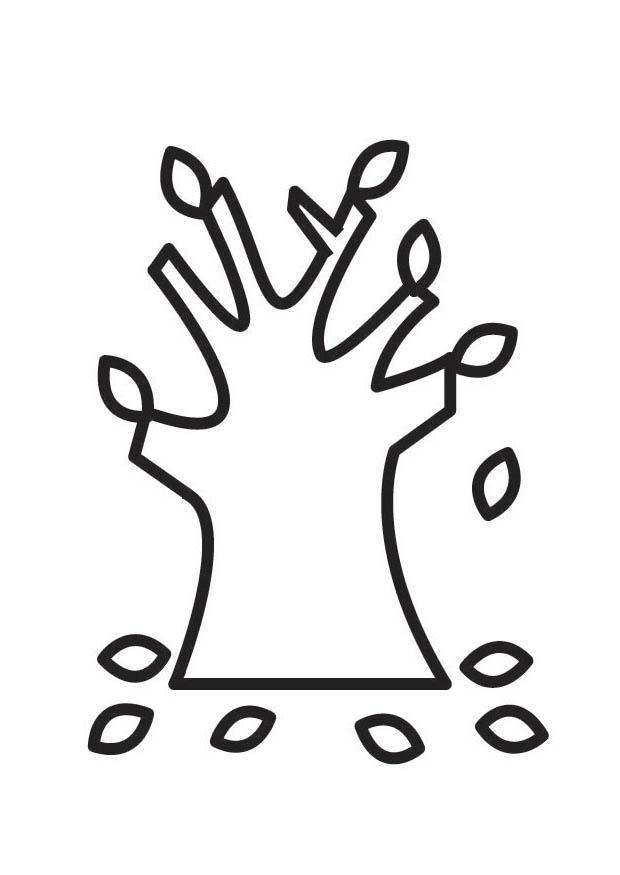 kleurplaat boom herfst gratis kleurplaten om te printen