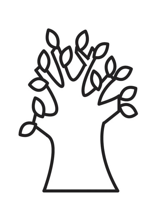 Kleurplaat boom lente. Gratis kleurplaten om te printen.