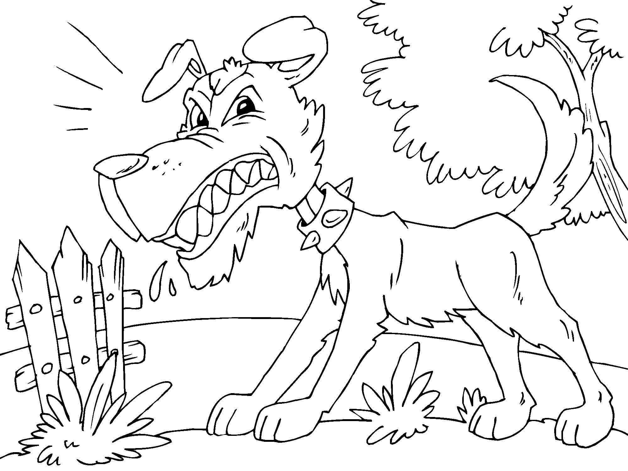 kleurplaat boze hond gratis kleurplaten om te printen