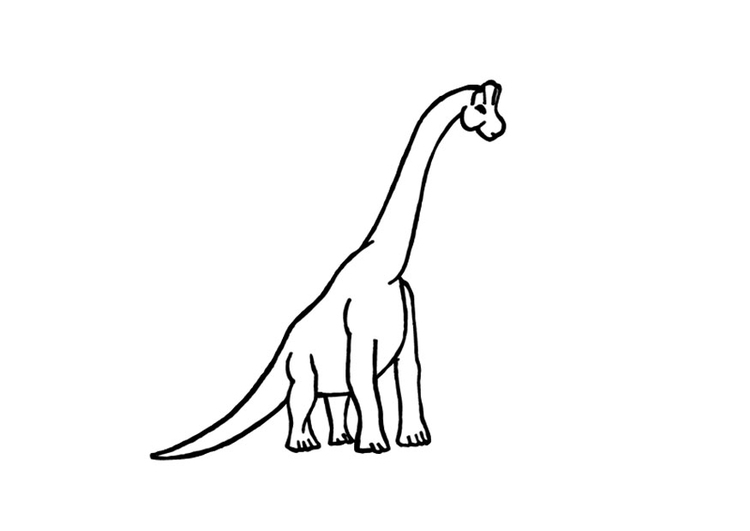 Kleurplaat Brachiosaurus Afb 9681