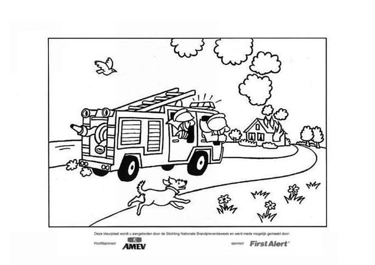 Kleurplaat Brandweer Afb 22559