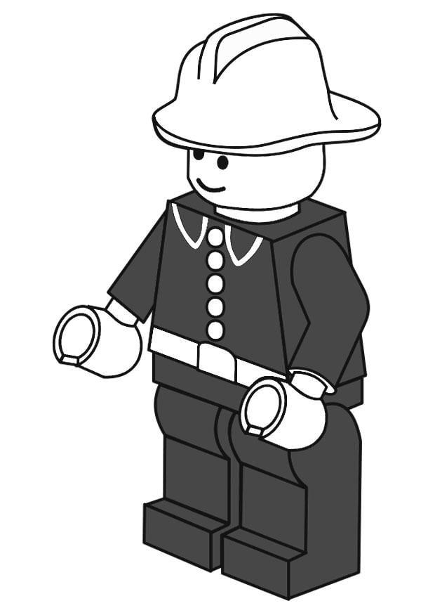 Kleurplaten Lego Brandweer.Kleurplaat Brandweerman Afb 20134