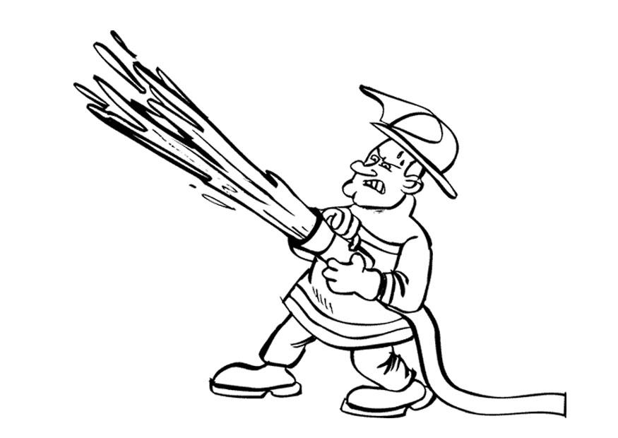 coloring book pages fireman - photo#26