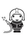 Kleurplaat brandweerman