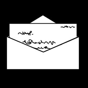 kleurplaat brief afb 20442