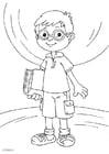 Kleurplaat bril dragen