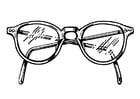 Kleurplaat bril