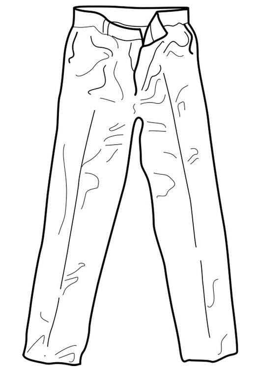kleurplaat broek afb 18961