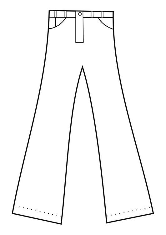 kleurplaat broek afb 19152