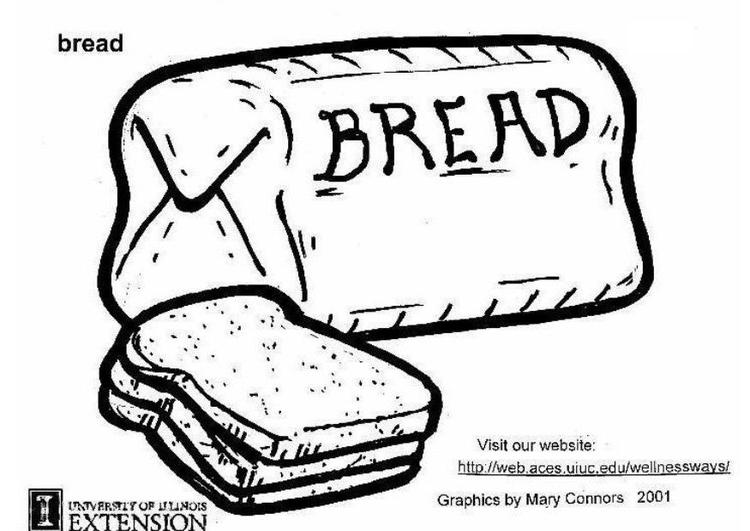 kleurplaat brood gratis kleurplaten om te printen