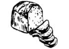 Kleurplaat brood