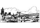 Kleurplaat brug
